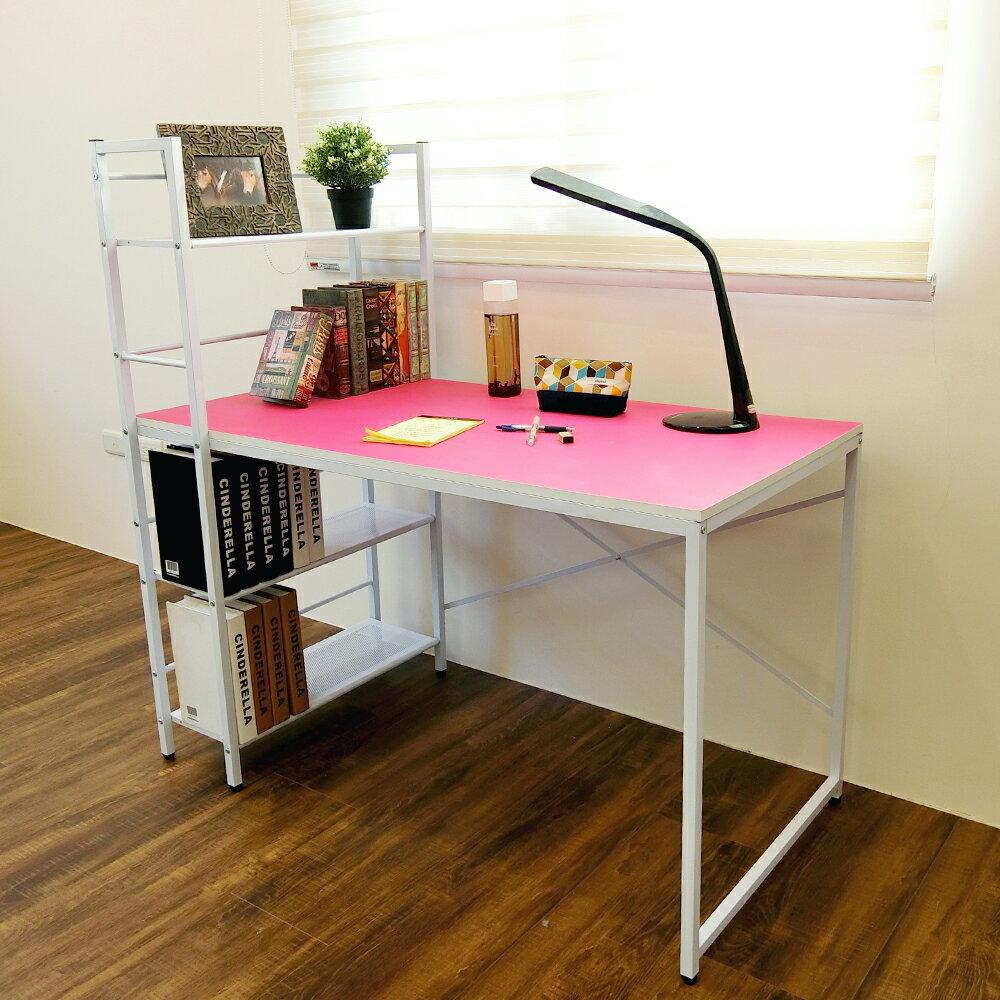 辦公桌 電腦桌 書桌 樂活雙向層架式多功能120*60大桌面工作桌 【DCA017】 Amos 台灣製造 2