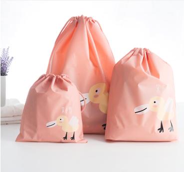 衣物收納 分裝 防水 收納 整理 便攜 行李 出國 分類袋 原創卡通防水 旅行收納袋6件組