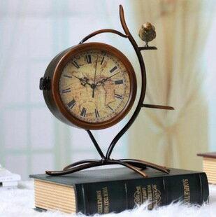 古羅馬裝飾古典鐵藝座鐘樹枝小鳥鐘十天預購+現貨