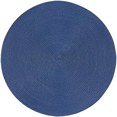 《NOW》素面織紋圓餐墊(藍紫)