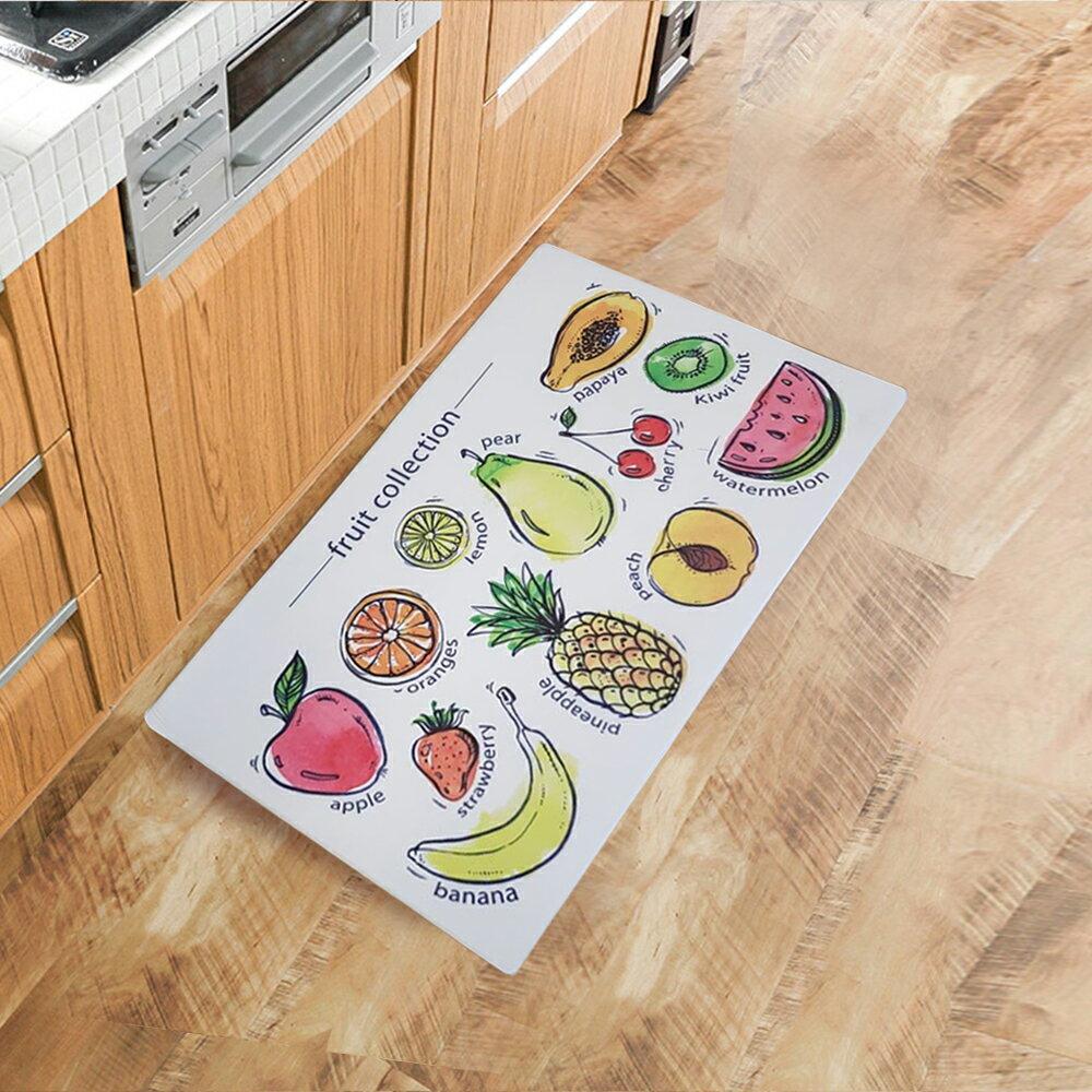 廚房 踏墊 皮革 地墊 45x75cm(水果家族)