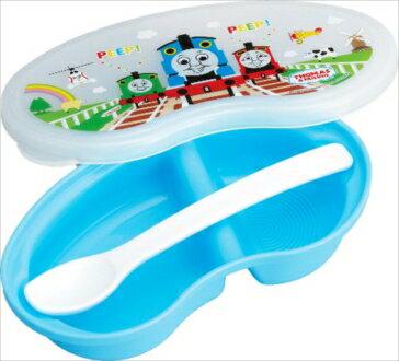 湯瑪士 小火車 農場 嬰幼兒 外出兩格餐盒 附湯匙  餐具 製  J00012451