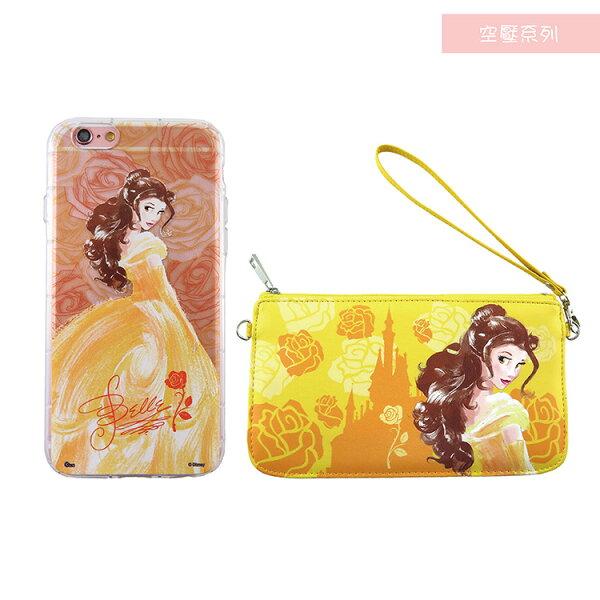 Disney迪士尼iPhone66SPlus(5.5)防摔氣墊空壓保護套+手機袋禮盒-手繪貝兒公主