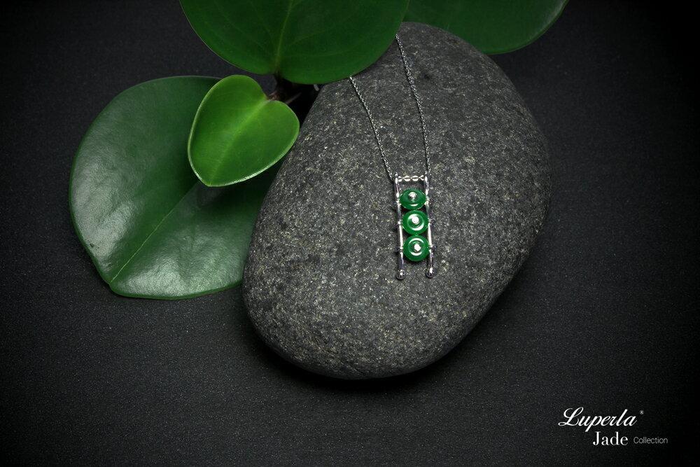 大東山珠寶 事事如意 天然緬甸老坑玻璃種A貨翡翠 頂級真鑽18K白金項鍊 4