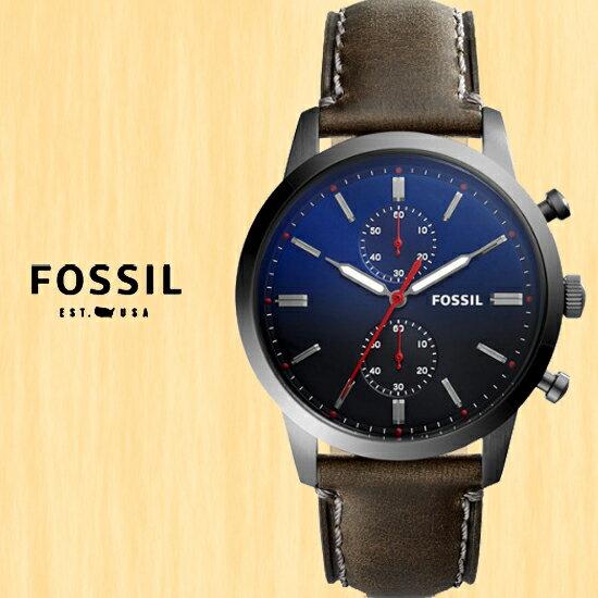 FOSSIL美國品牌TOWNSMAN紳士魅力計時腕錶FS5378原廠公司貨