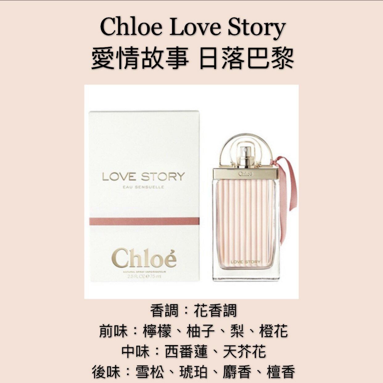 【香舍】Chloe Love Story 愛情故事 日落巴黎 女性淡香精