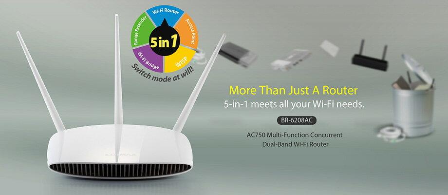 【迪特軍3C】AC750 雙頻無線網路分享器 BR-6208AC