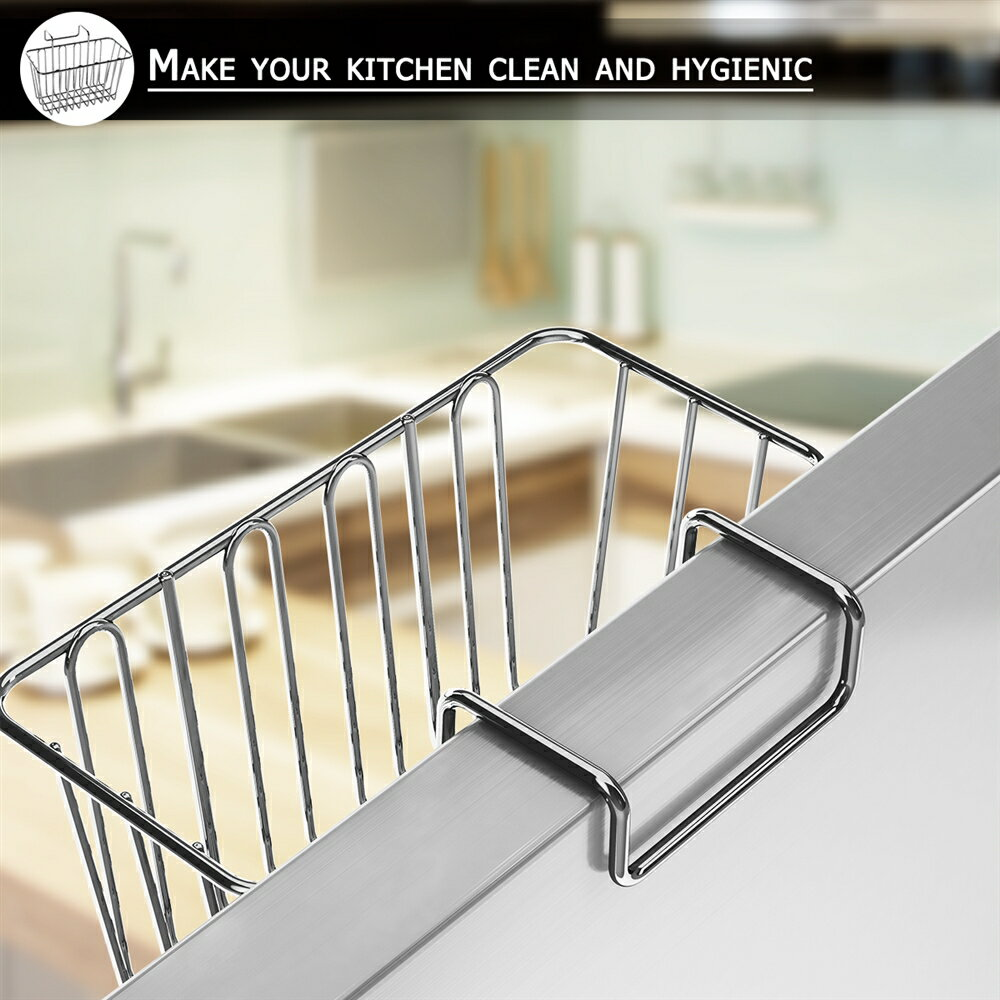 kitchen sponge holder sink caddy brush liquid drainer rack stainless steel cleaning brush soap dishwashing fruit - Kitchen Sponge Holder