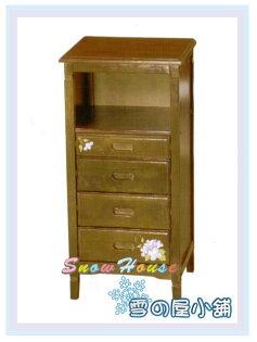 ╭☆雪之屋居家生活館☆╯AA568-12AR-047豐采實木四抽櫃置物櫃床頭櫃電話櫃收納櫃展示櫃斗櫃