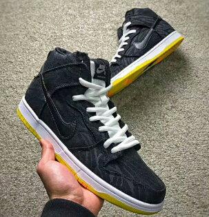 NikeSBDunkHighProSkunk爆裂紋黑色男款