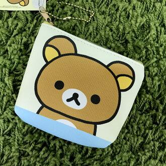 【真愛日本】17080100005 拉鍊零錢包-懶熊斜紋大頭 san\