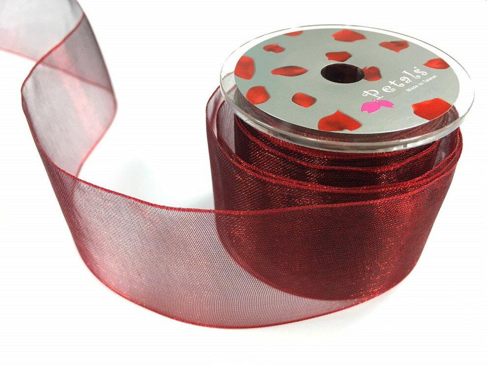 Petals緞帶刺繡-38mm雙色雪紗(十色) 8