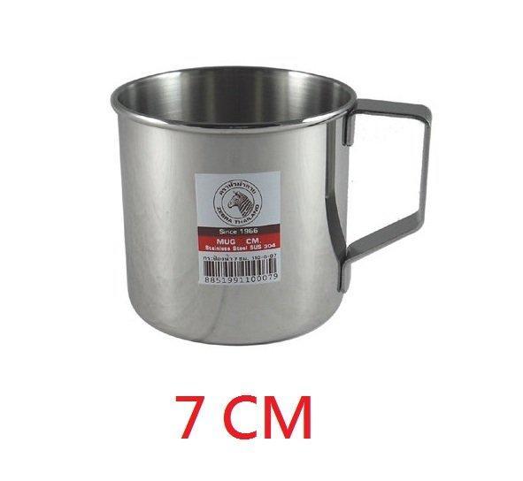 ZEBRA斑馬牌不銹鋼多用途口杯【無蓋】7cm/8cm ㊣304不鏽鋼鋼杯 茶杯 漱口杯 水杯
