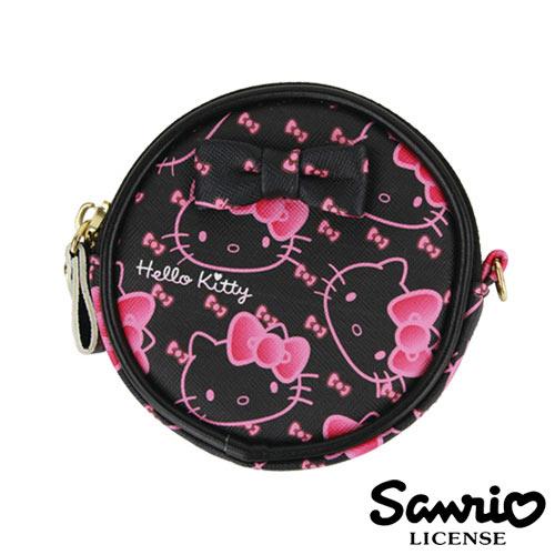 5331【日本進口正版】Hello Kitty 凱蒂貓 三麗鷗 人物系列 圓型 皮質 零錢包 SANRIO - 123657