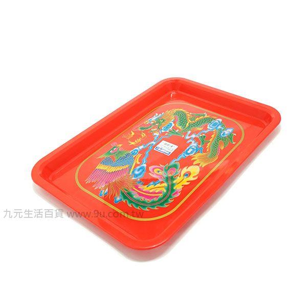 【九元生活百貨】400型龍鳳方盤 茶皿 龍鳳茶盤