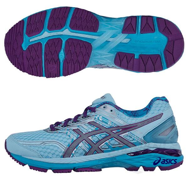 ASICS亞瑟士女慢跑鞋(水藍紫)GT-20005LS輕量.穩定.高緩衝慢跑鞋款T761N-3936【胖媛的店】