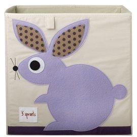 【淘氣寶寶】加拿大 3 Sprouts 收納箱-兔子【超大容量 收納箱,可摺疊,100%棉帆布手感柔軟耐抗污】【 貨● 】