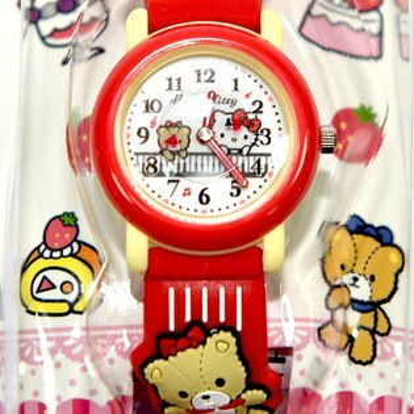 HelloKitty兒童指針式手錶日本限定