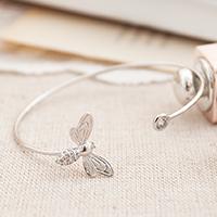 ~^~Rinco^~~盛夏輕旅 漫步花徑細緻蝴蝶鑽飾鑲圓鑽開口式手環 ~  好康折扣