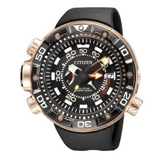CITIZEN Eco-Drive 專業潛水運動腕錶/黑/BN2026-00E
