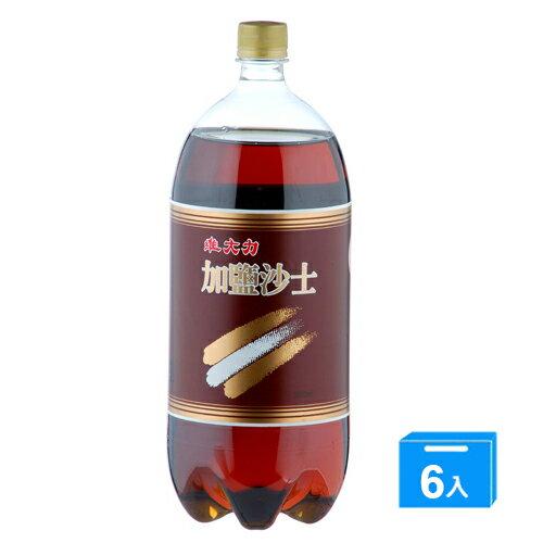 <br/><br/> 維大力加鹽沙士寶特瓶2000ml*6入/箱【愛買】<br/><br/>