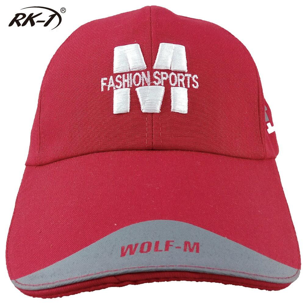 小玩子 RK-1 亮麗紅 布帽 帽子 鴨舌帽 長版型 休閒 遮陽 簡約 時尚 字母