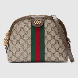 【Gucci】 Ophidia GG 半月貝殼肩背/斜背包 499621 K05NG 8745【全店免運】ARIBOBO 艾莉波波