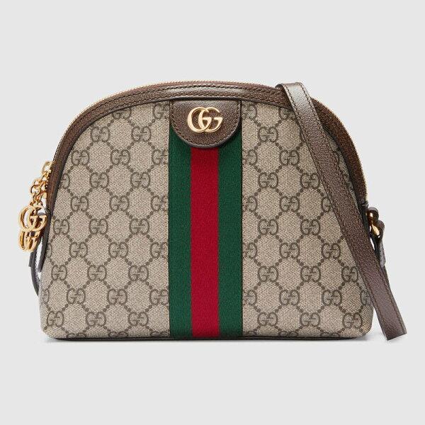 【Gucci】OphidiaGG半月貝殼肩背斜背包499621K05NG8745【全店免運】ARIBOBO艾莉波波