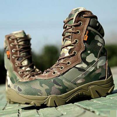 【戰術靴-高幫-1雙/組】戶外迷彩軍靴男飛行靴戰術靴登山靴沙漠靴-7670701