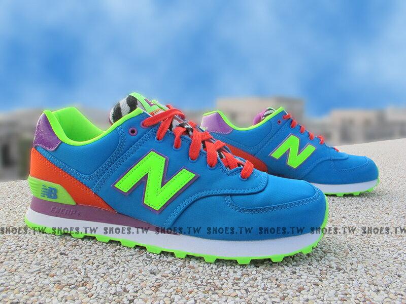 [27cm]《超值4折》Shoestw【WL574BP】NEW BALANCE NB574 藍橘螢綠