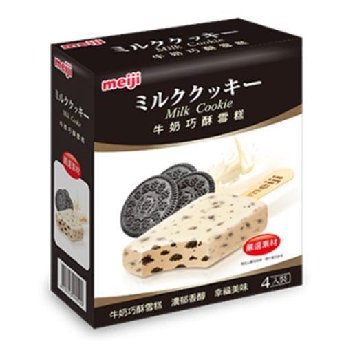 明治牛奶巧酥雪糕85GX4支/盒【愛買冷凍】