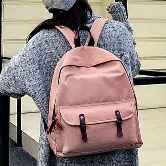 雙肩包 韓國學院風雙皮帶扣後背包【O3275】☆雙兒網☆