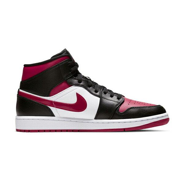 """【NIKE】AIR JORDAN 1 MID  """"BRED TOE"""" 運動鞋 飛人 中筒 8孔 籃球鞋 紅 黑 男鞋 -554724066 2"""