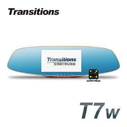 全視線 T7w 聯詠96658 HDR影像處理 Full HD 前後雙鏡頭後視鏡型行車記錄器(含16G卡)