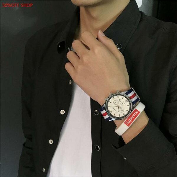 50 OFF SHOP:50%OFFSHOP手錶中韓版簡約潮流休閒潮錶時尚個性復古簡約大方(4色)【H033024WAH】