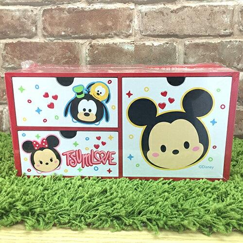 【真愛日本】17091100001 橫式三抽盒-MK 迪士尼 米老鼠米奇 米妮 抽屜櫃 木製 收納盒