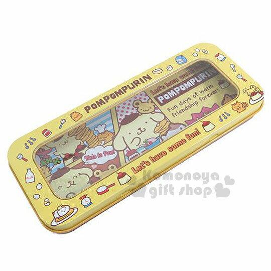 〔小禮堂〕布丁狗 鐵製筆盒《黃.好朋友.點心.漫畫》增添學童學習樂趣