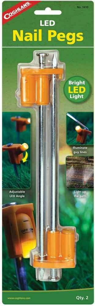 【鄉野情戶外專業】 COGHLAN'S |加拿大|  LED發光營釘 NAIL PEG(2入)_1410