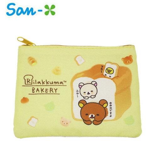 【日本正版】拉拉熊 零錢面紙包 零錢包 卡片包 收納包 懶懶熊 Rilakkuma San-X - 450939