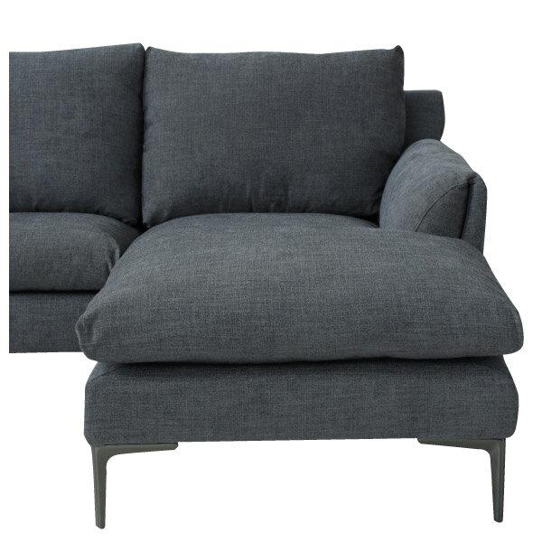 ◎布質左躺椅L型沙發 KF2037 DGY NITORI宜得利家居 4