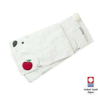 日本今治毛巾(imabari towel) - 四國動物園Tobezoo - 北極熊Ms.Peace日本運動巾/圍巾(小孩用)《日本設計製造》《全館免運費》