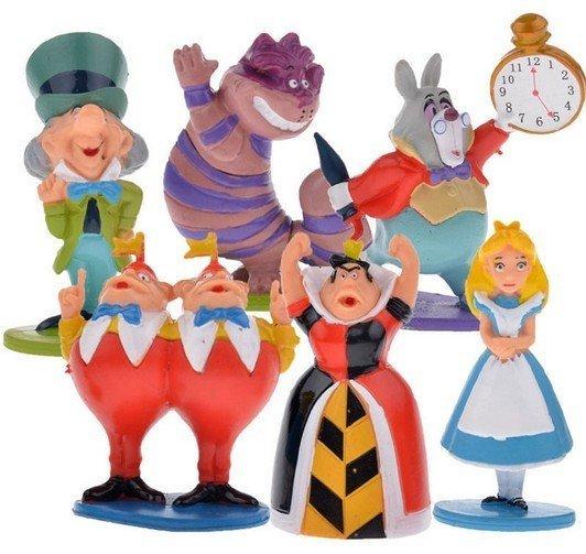 =優生活=迪士尼正版外貿 愛麗絲夢遊仙境 灰姑娘 時鐘兔 說謊貓擺件公仔人偶 6款超值裝 大隻尺寸