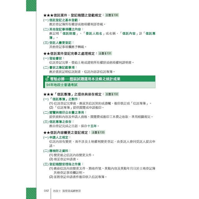 2016全新改版!地政士(專業科目四合一)─強登速成總整理 4