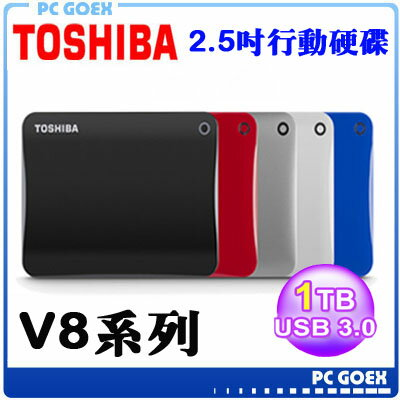 Toshiba Canvio Connect II V8 1TB USB3.0 2.5吋行動硬碟 五行碟☆pcgoex軒揚☆