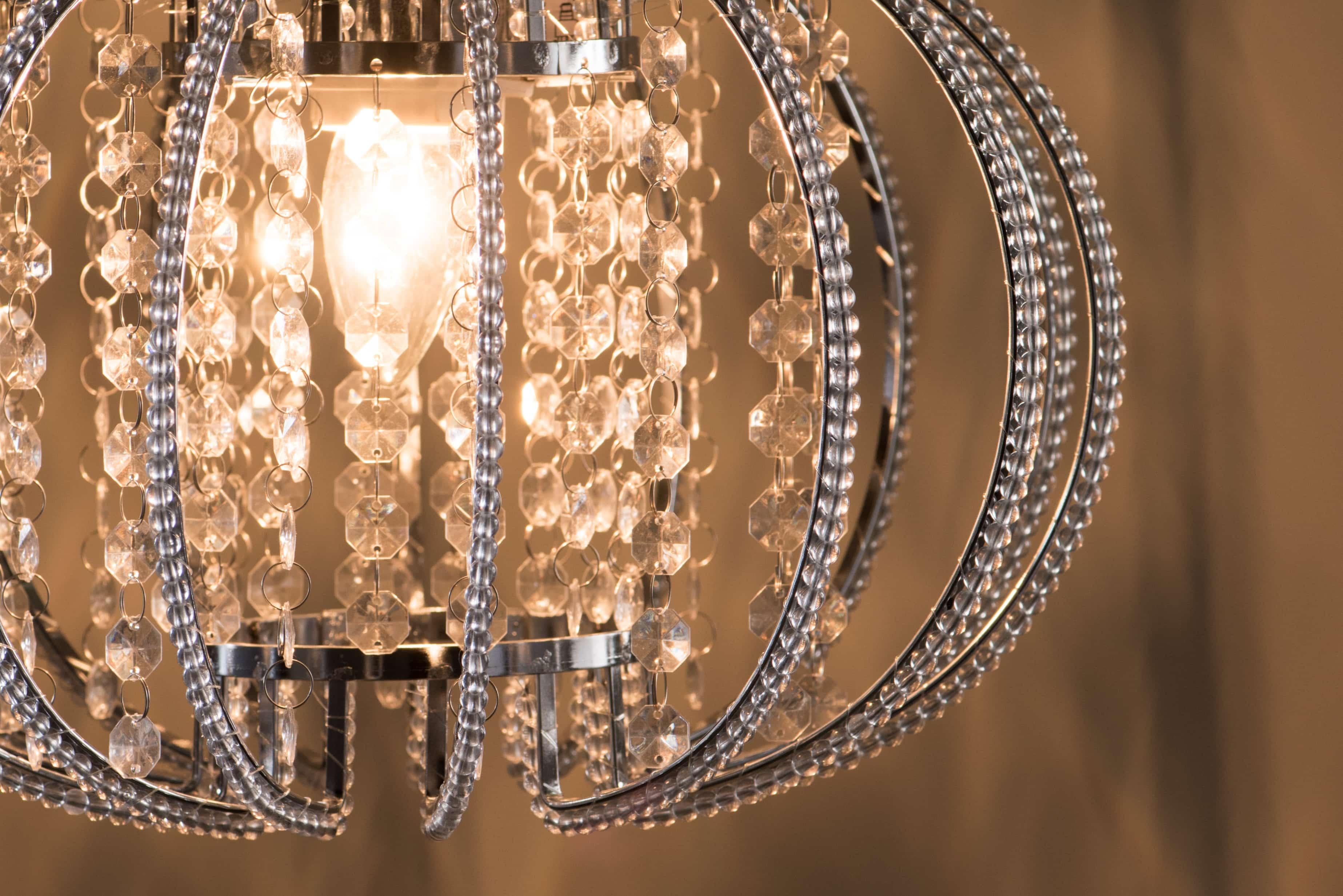 鍍鉻圓形透明壓克力珠吊燈-BNL00046 5