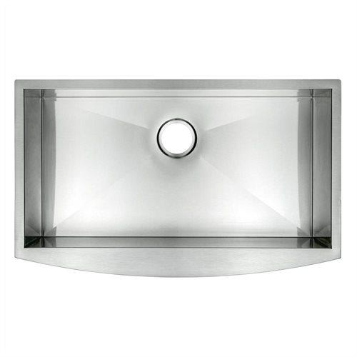 "33"" Stainless Steel Kitchen Sink Under Mount Double Bowl HandMade 16 Gauge T-304 0"