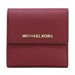 MICHAEL KORS 新款 金字logo防刮皮革翻蓋中短夾