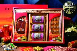 【野味食品】雅撰厚禮37(日本北海道M級干貝柱+台灣海捕野生烏魚子+新美輪澳洲鮑魚罐頭)(附贈年節禮盒、禮袋)(春節禮盒,傳統禮盒,年貨禮盒)