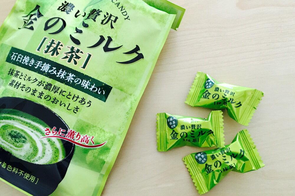 【KANRO甘樂】贅澤濃郁金抹茶牛奶糖 70g 石臼研磨西尾抹茶使用 金のミルクキャンディ 抹茶 日本進口糖果 2