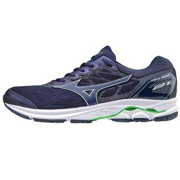 MIZUNOWAVERIDER21(SW)男鞋慢跑超寬楦輕量透氣深藍【運動世界】J1GC180419